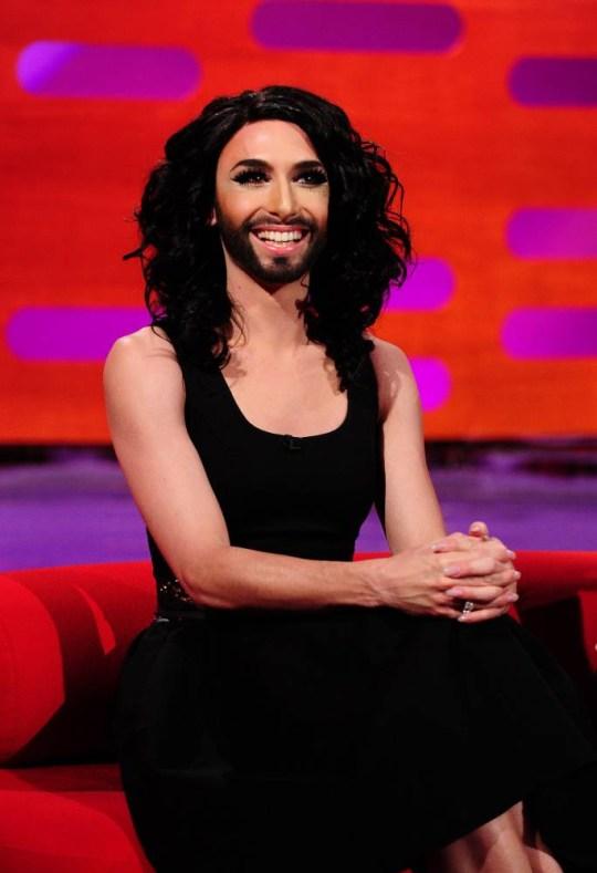 Eurovision winner Conchita Wurst on The Graham Norton Show