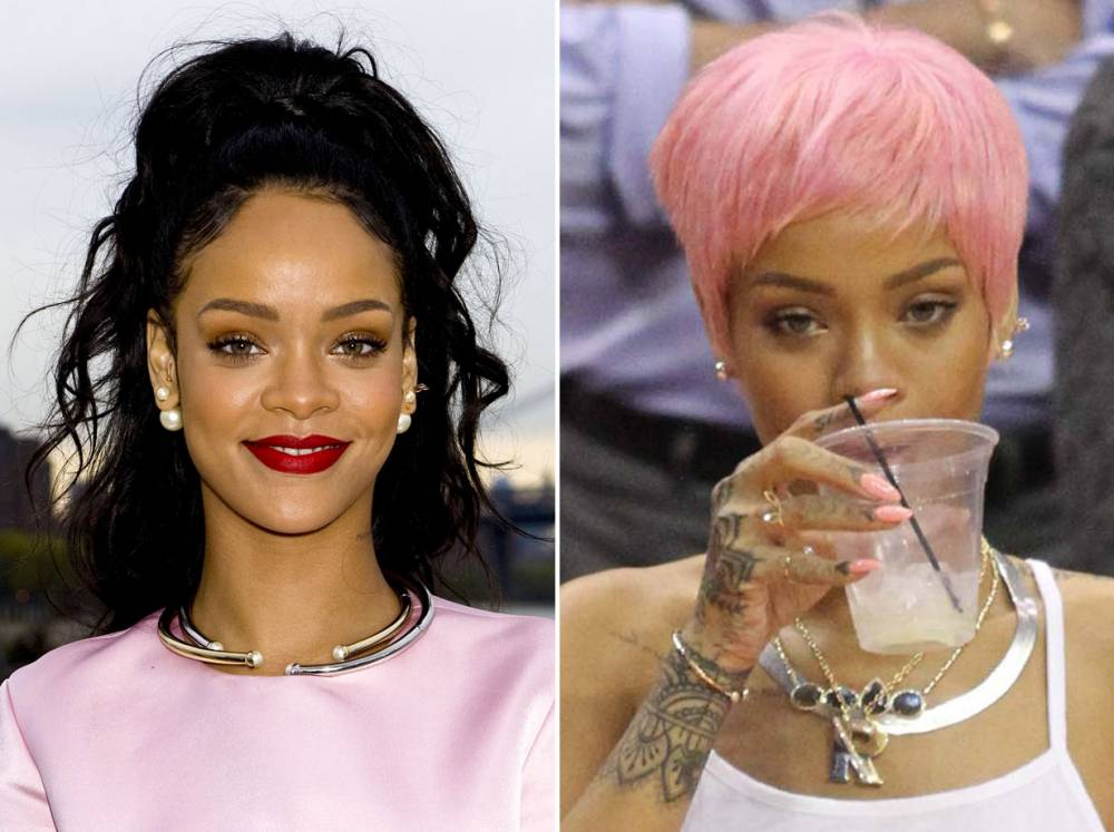 Rihanna shows off new pink hairstyle and it's kind of amazing
