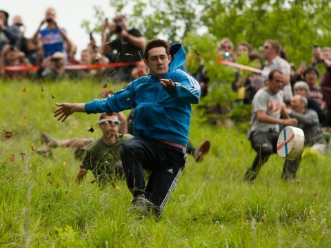 Pictures: Brockworth cheese rolling race 2014