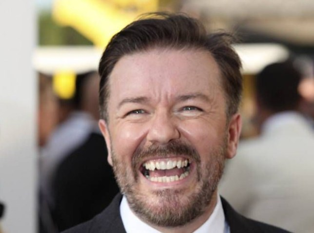 Ricky Gervais attends The 2012 Arqiva British Academy Television Awards at the Royal Festival Hall on May 27, 2012 in London, England.     LONDON, ENGLAND - MAY 27:  (Photo by Tim Whitby/Getty Images)