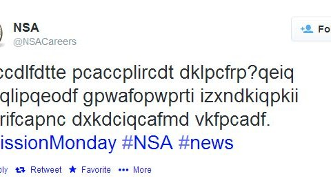 Could you decipher this message? NSA looks for code-breakers of the future on Twitter