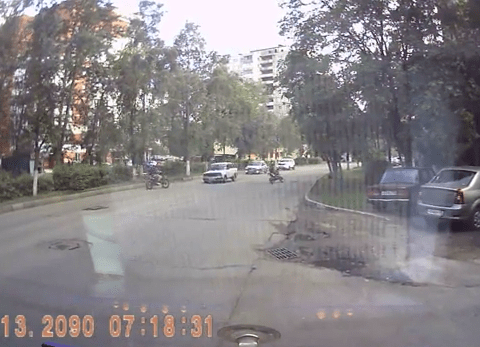 This is biker roulette: Deadly new craze in Russia that nearly costs this man his life