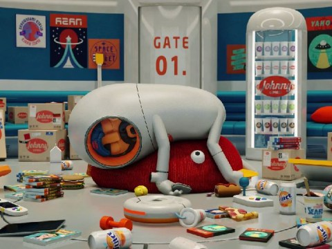 This hilarious animated sci-fi short is like a Pixar film but with, er, more death