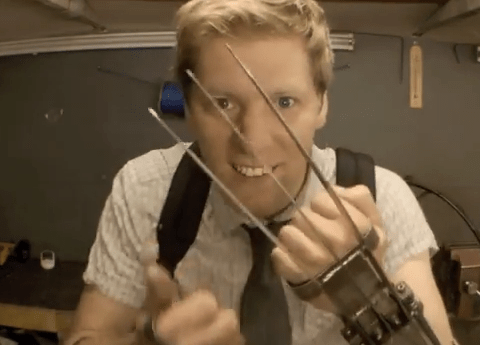 Mad genius creates fully functioning Wolverine claws