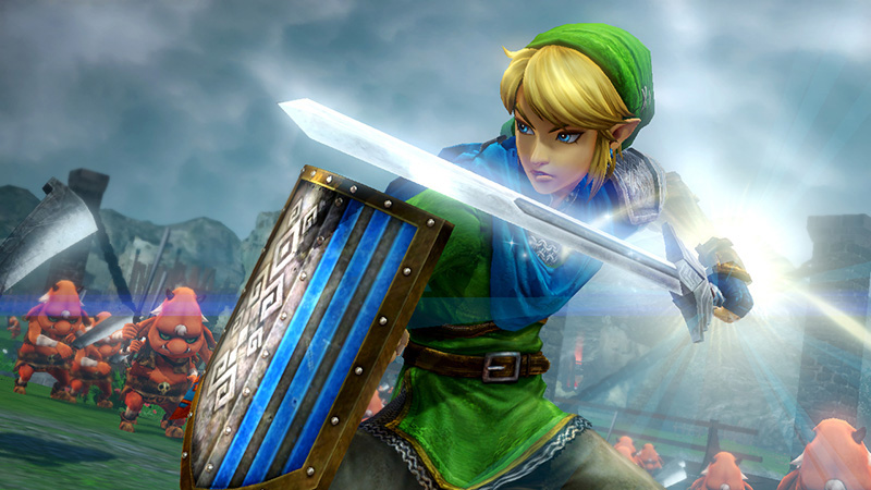 Hyrule Warriors site details collector's edition with Zelda scarf