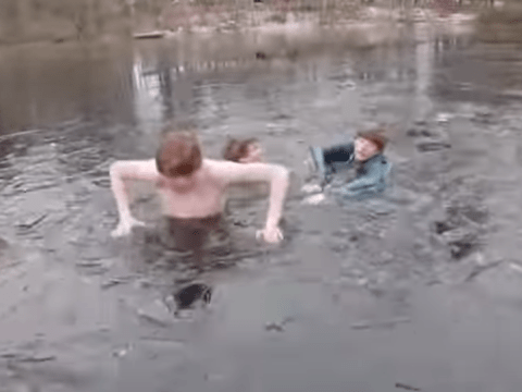 Teenagers trap friend in freezing pond, YouTube lashes out