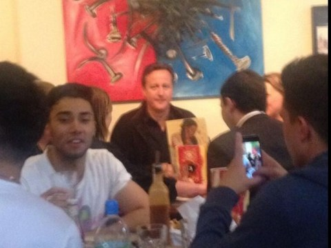 Prime minister David 'Call me Dave' Cameron spotted eating chicken in Nando's