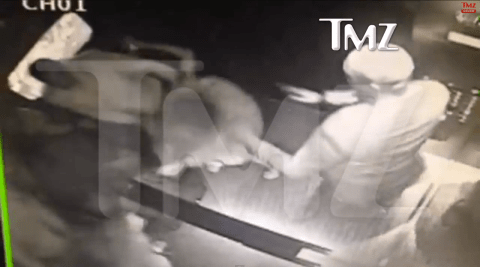Watch: Incredible leaked CCTV footage shows Jay Z 'fighting with Beyonce's sister Solange Knowles in lift during last week's Met Ball'