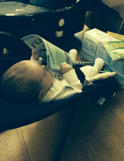 He's got talent: Simon Cowell's baby son Eric can already read!