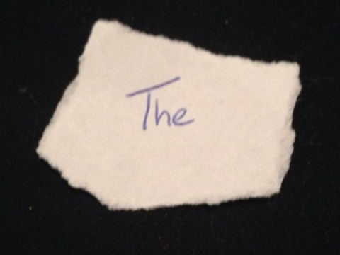 Man selling word 'The' on eBay, bidding already above £50