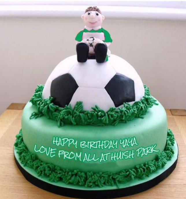 Yaya Toure will get at least one birthday cake (Picture:T witter/@ytfcofficial)