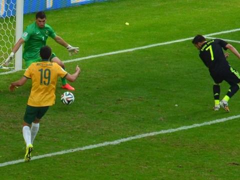 Tekkers! David Villa restores Spanish pride with slick finish against Australia