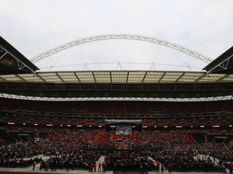Watch Wembley being transformed from football stadium to boxing arena – video
