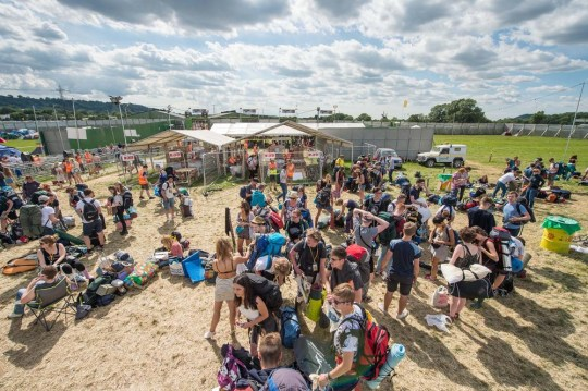 Festival goers have already started to arrive at the Glastonbury Festival at Worthy Farm ahead of the terrible weather predicted (Picture: Ian Gavan/Getty Images)