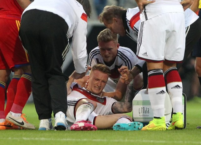 sports shoes 65525 bf976 German star Marco Reus sees his World Cup dream shattered by ...