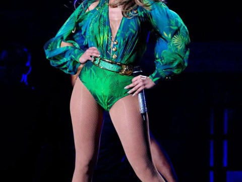 Jennifer Lopez performs at the World Cup Opening Ceremony