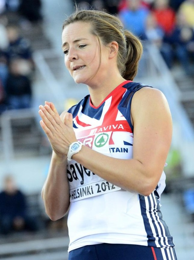 Goldie Sayers last competed in 2012 (Picture: AFP/Getty Images)