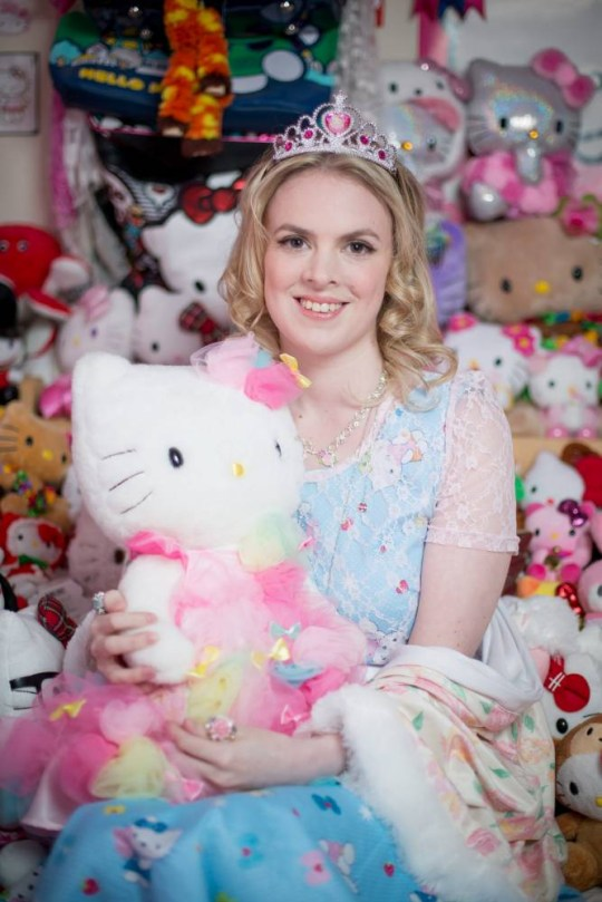 5e5148c02 Natasha Goldsworth, 29, from Exeter, who has a massive collection of Hello  Kitty
