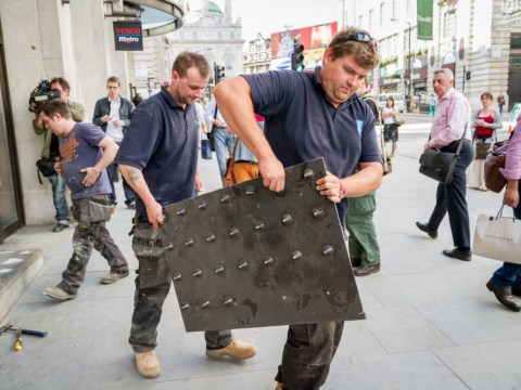 Tesco removes 'anti-homeless' spikes amid protests