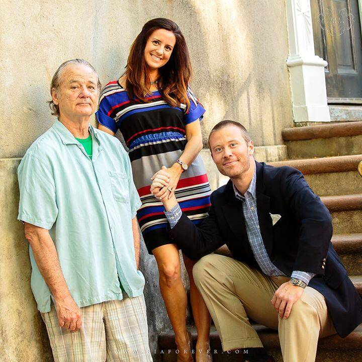 Here's what happened when Bill Murray gatecrashed a couple's engagement photos