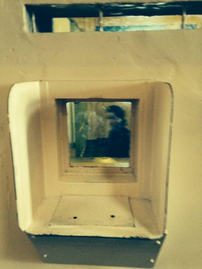 A ghostly image is seen in a picture of an empty cell in the notorious Alcatraz prison off the coast of San Fransisco, California, USA. The spooky snap was taken by Brit Sheila Sillery-Walsh, 48, from Birmingham, UK when she was on holiday there in April 2014. Ö PIC BY NEWS DOG MEDIA .. +44 (0) 121 246 1932