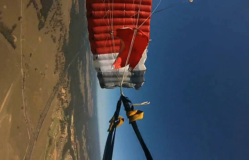 GoPro captures horror moment skydiver's parachute fails to open at 3,000ft