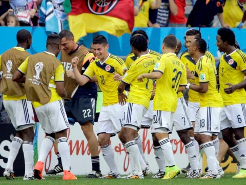 Colombia pull off awesome team dance celebration after James Rodriguez goal against Ivory Coast