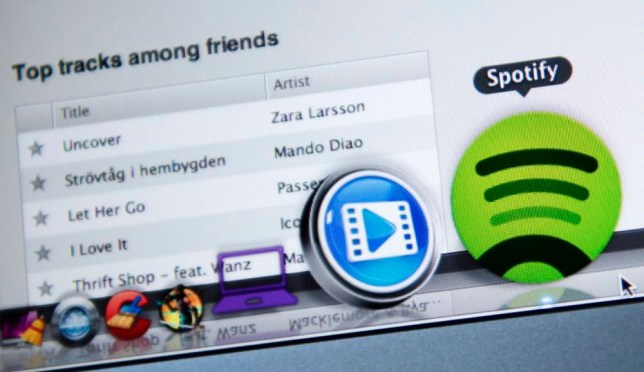 TO GO WITH AFP STORY BY SOREN BILLING: This photo illustration shows the Swedish music streaming service Spotify on March 7, 2013 in Stockholm, Sweden. Sweden is at the forefront of a global recovery in music sales driven by streaming music services such as Spotify. AFP PHOTO/JONATHAN NACKSTRAND        (Photo credit should read JONATHAN NACKSTRAND/AFP/Getty Images)