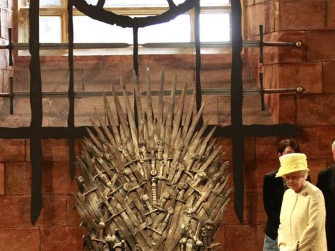 The Queen fails to try out the Iron Throne for size in Game Of Thrones set visit