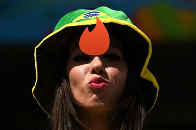 TOPSHOTS  A Brazil fan is pictured prior to a Group H football match between Belgium and Algeria at the Mineirao Stadium in Belo Horizonte during the 2014 FIFA World Cup on June 17, 2014.      AFP PHOTO CHRISTOPHE SIMONCHRISTOPHE SIMON/AFP/Getty Images