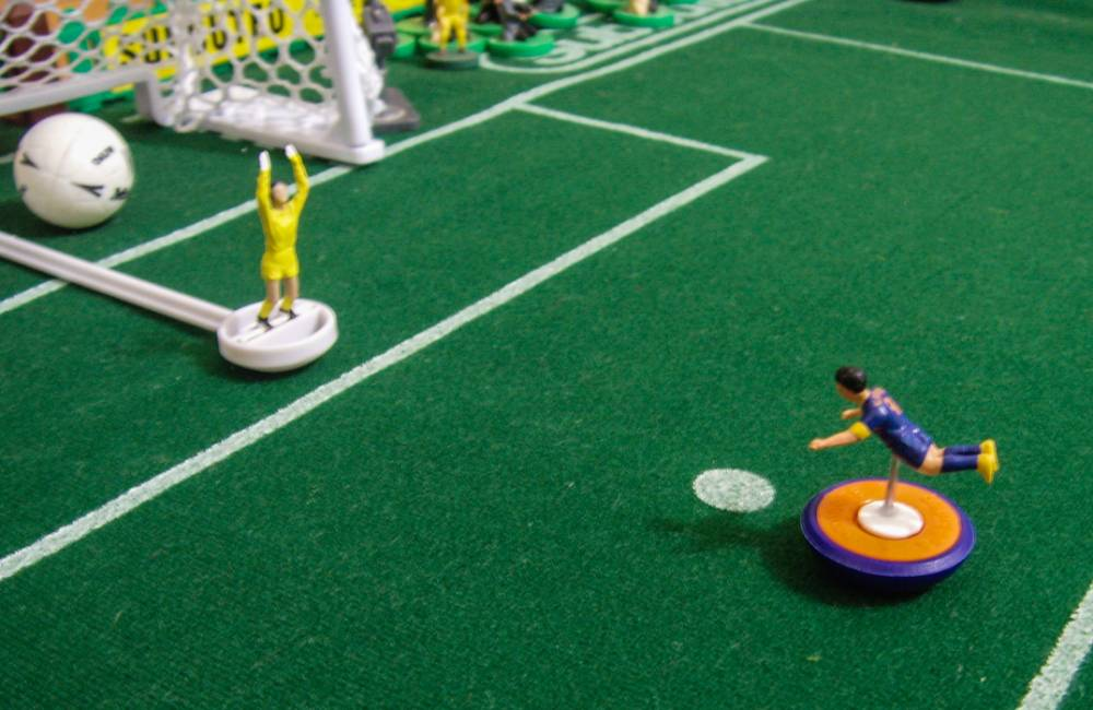 British artist Terry Lee recreates famous Brazil World Cup 2014 moment using Subbuteo figures