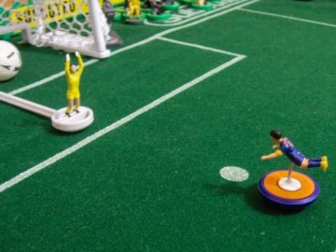 British artist Terry Lee recreates famous Brazil World Cup 2014 moment using Subbuteo figures