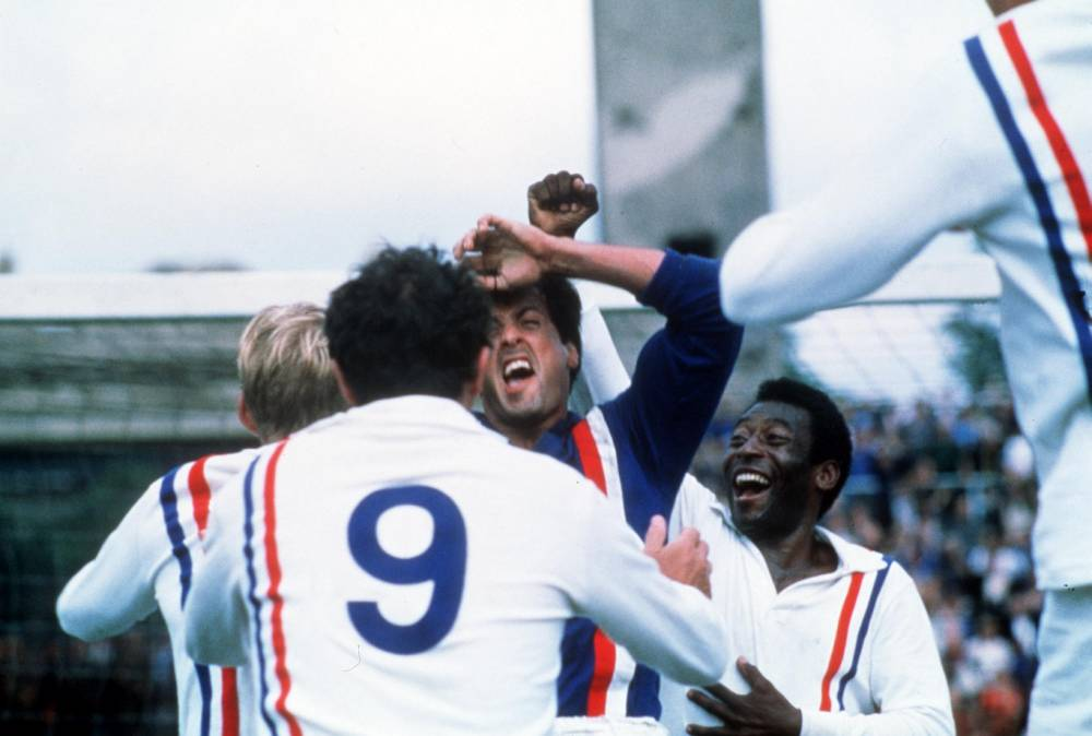 A scene from the film 'Escape to victory' (1981)Thursday 30th October 2003, 8pm....Stars SYLVESTER STALLONE and PELE.nLicenced by CHANNEL 5 BROADCASTING. Five Stills: 0207 550 5509.  Free for editorial press and listings use in connection with the current broadcast of Channel 5 programmes only.  This Image may only be reproduced with the prior written consent of Channel 5.  Not for any form of advertising, internet use or in connection with the sale of any product.
