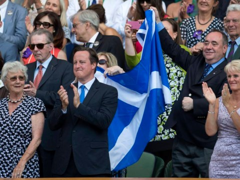 Andy Murray 'didn't like it' when Alex Salmond waved the Scottish flag at Wimbledon