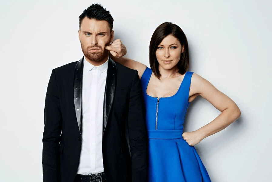 Big Brother Power Trip Emma Willis and Rylan Clark