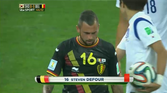 Belgium's Steven Defour sent off for shocking two-footed tackle on South Korea's Kim Shin-wook
