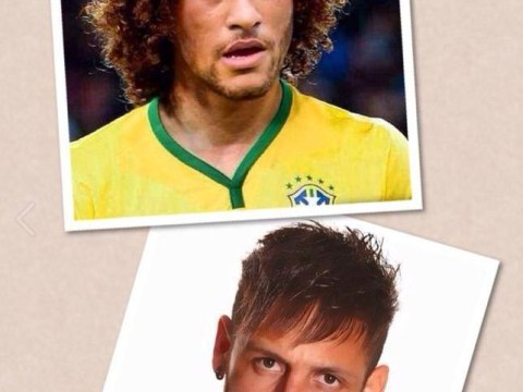 Too weird! David Luiz posts hair-swap photo of him and Neymar