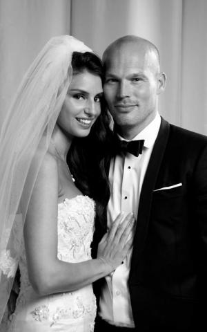 Freddie Ljungberg married Spurs fan Natalie Foster (Picture: Twitter/@Freddie)