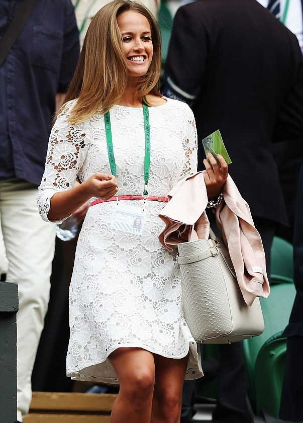 Kim Sears looks to recreate history with lace Reiss dress for day one of Wimbledon