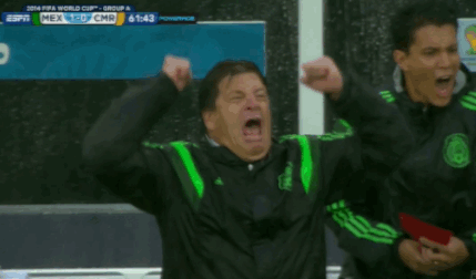 World Cup 2014: Mexico boss Miguel Herrera does the best goal celebration ever