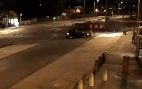 Watch: Moment driver smashes into pedestrian in deliberate hit and run