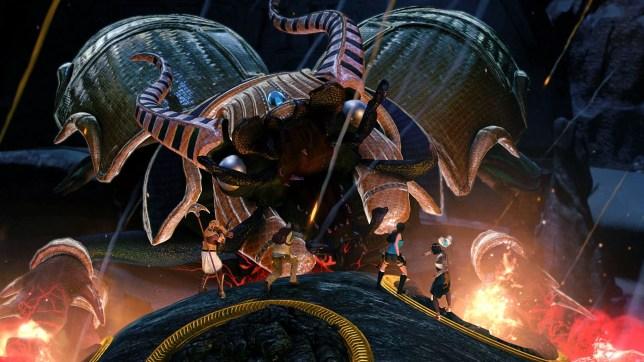 Lara Croft And The Temple Of Osiris - that's a big bug