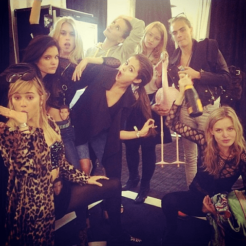 Is the the most A-list girls' night out EVER? Cara, Suki, Selena, Georgia and Mary Charteris hit Katy Perry's gig