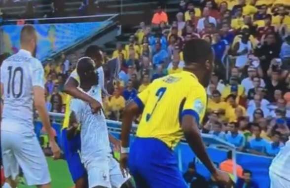 Was Liverpool's Mamadou Sakho lucky to escape red after shocking elbow during France v Ecuador?