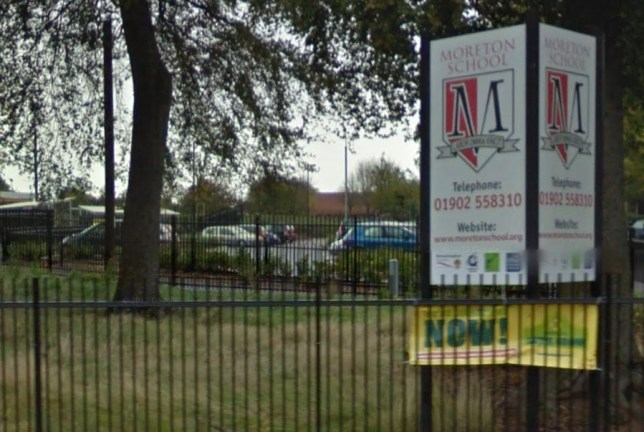 The incident took place at Moreton Community School in Wolverhampton (Picture: Google Maps)