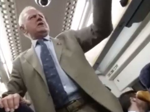 Drunk pensioner conducts train in sing-a-long and everyone loves it