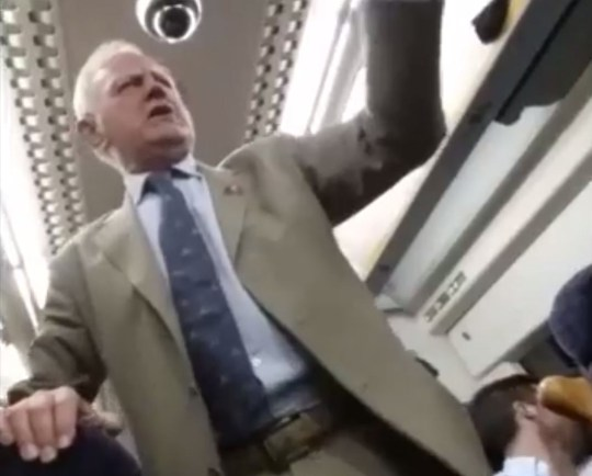 Drunken pensioner bursts into sing-a-long (Picture: SWNS)