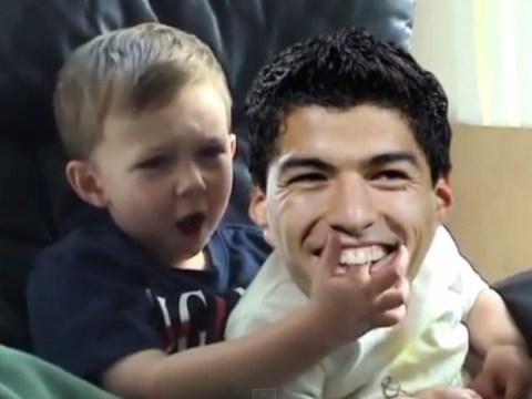 Internet's favourite video 'Charlie bit my finger' given Luis Suarez treatment