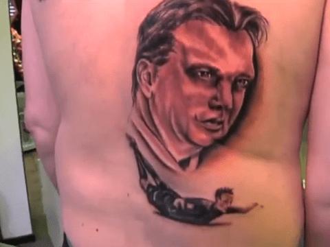 Crazy Holland fan gets Robin van Persie and Louis van Gaal tattooed on his back