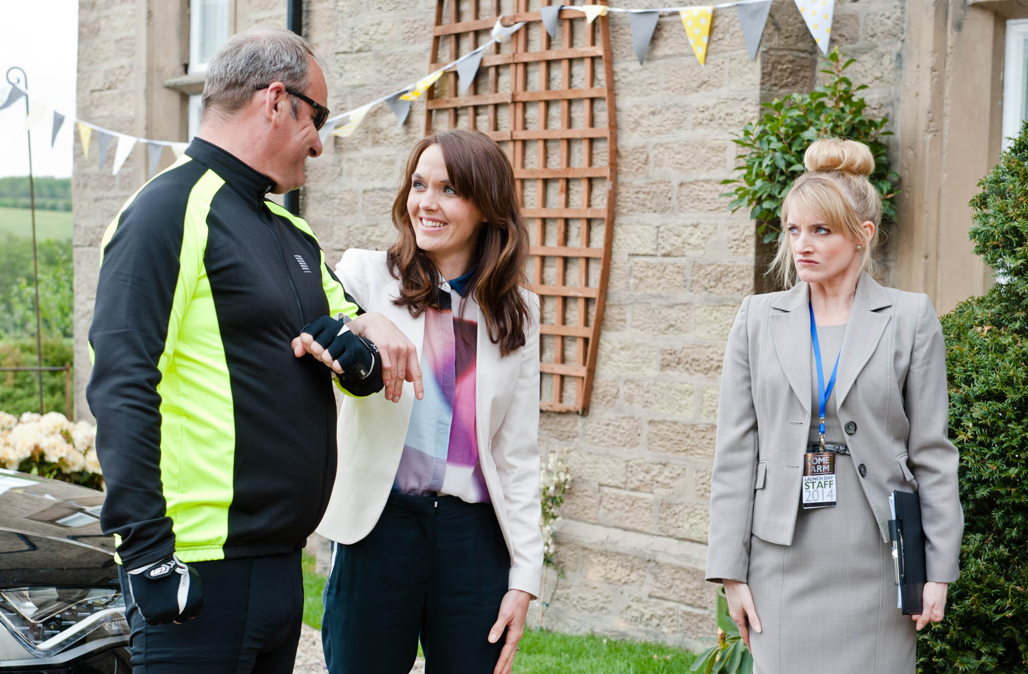 Victoria Pendleton popped up on Emmerdale last night to relaunch Home Farm